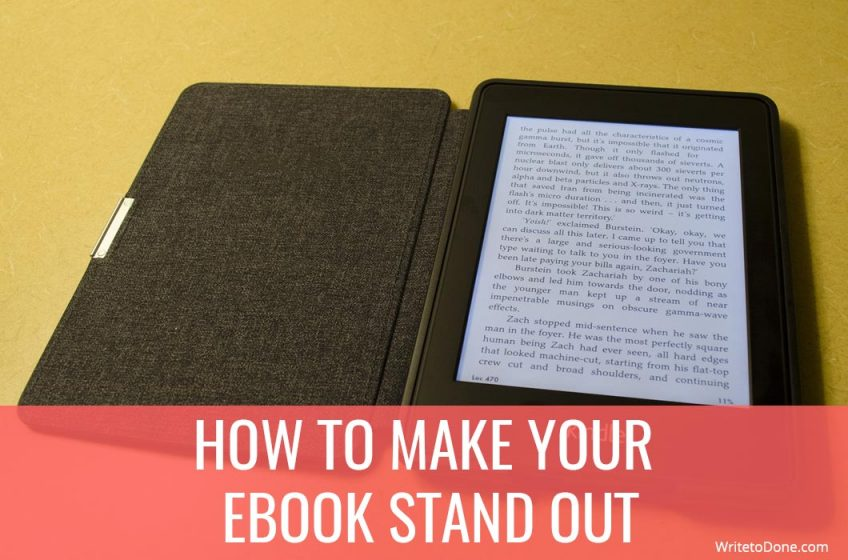 make your ebook stand out - tablet