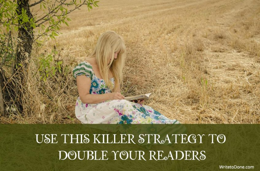 double your readers - woman reading
