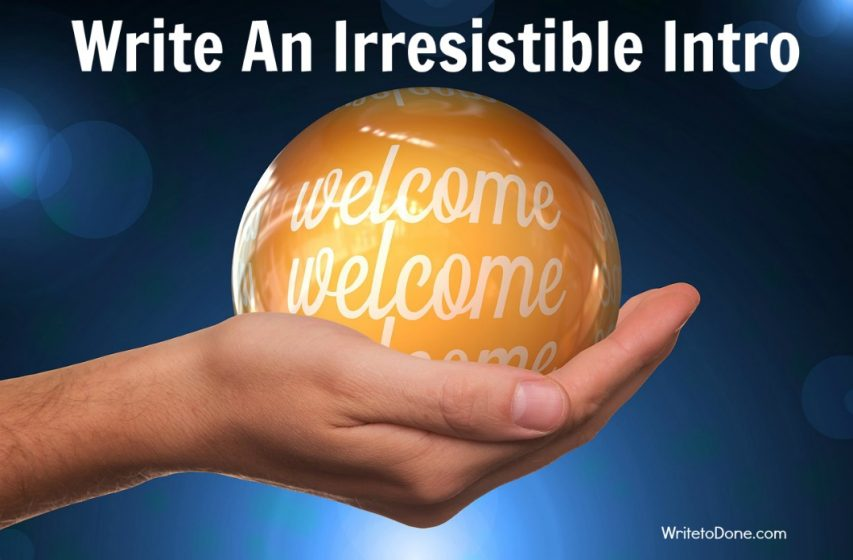 write an irresistible intro