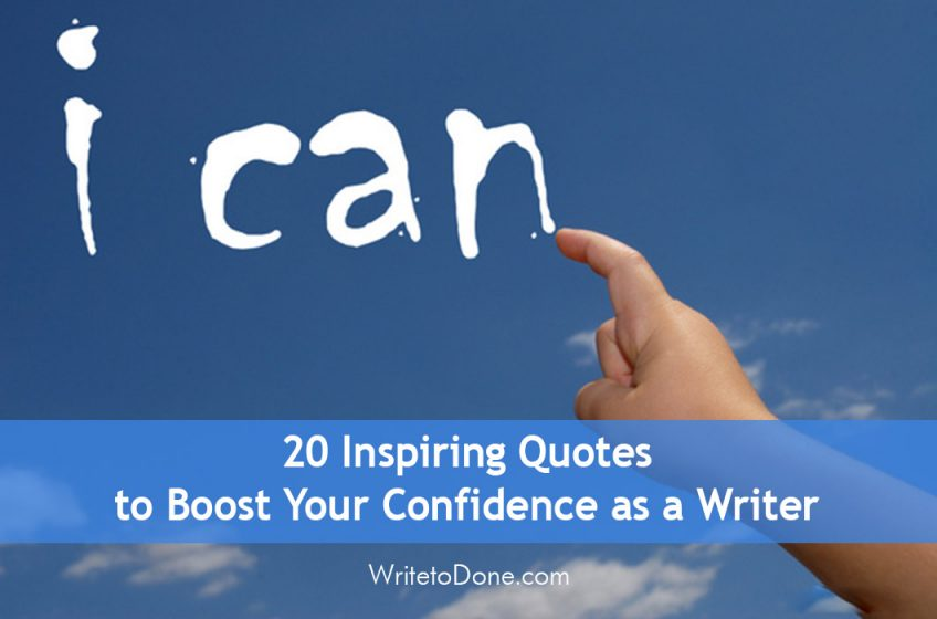 confidence as a writer