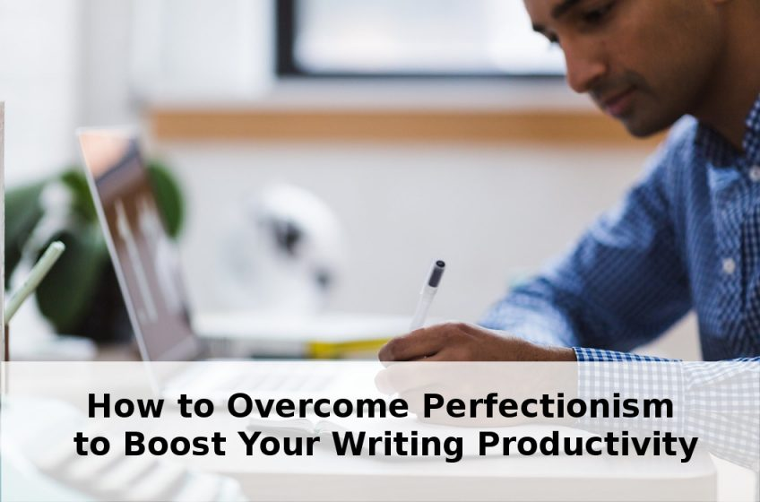 boost your writing productivity-man writing at computer